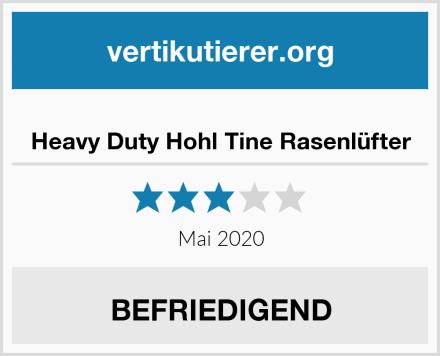 Heavy Duty Hohl Tine Rasenlüfter Test