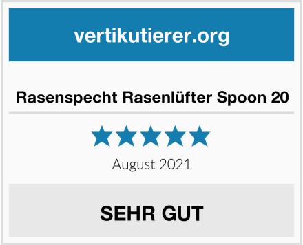 No Name Rasenspecht Rasenlüfter Spoon 20 Test