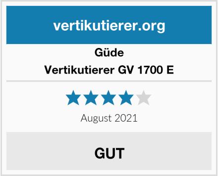 Güde Vertikutierer GV 1700 E Test