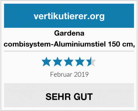 Gardena combisystem-Aluminiumstiel 150 cm, Test