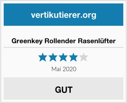 Greenkey Rollender Rasenlüfter Test