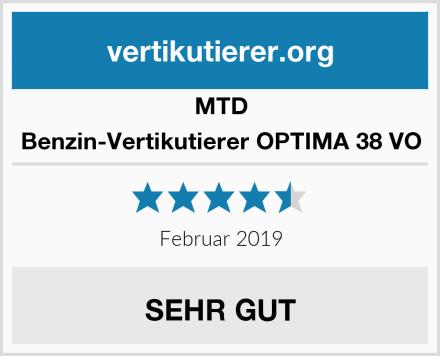 MTD Benzin-Vertikutierer OPTIMA 38 VO Test