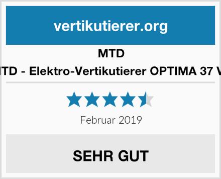 MTD MTD - Elektro-Vertikutierer OPTIMA 37 VE Test