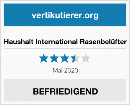 Haushalt International Rasenbelüfter Test