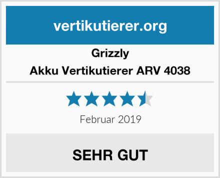 Grizzly Akku Vertikutierer ARV 4038 Test
