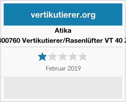 Atika 300760 Vertikutierer/Rasenlüfter VT 40 Z Test