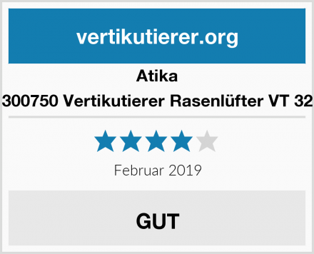 Atika 300750 Vertikutierer Rasenlüfter VT 32 Test
