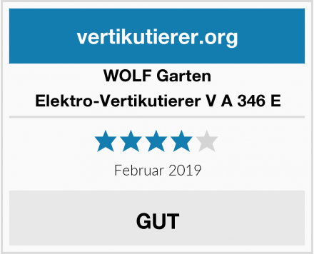 WOLF Garten Elektro-Vertikutierer V A 346 E Test