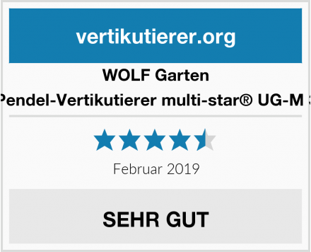 WOLF Garten Pendel-Vertikutierer multi-star® UG-M 3 Test