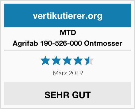 MTD Agrifab 190-526-000 Ontmosser Test