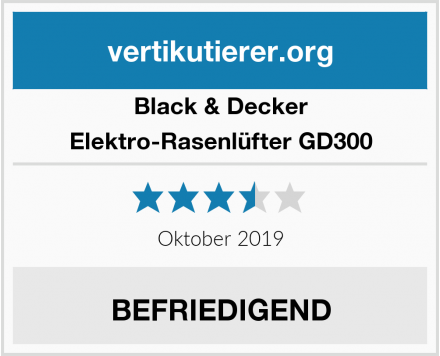 Black & Decker Elektro-Rasenlüfter GD300 Test