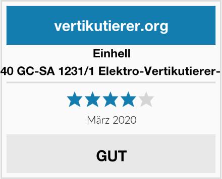 Einhell 3420640 GC-SA 1231/1 Elektro-Vertikutierer-Lüfter Test