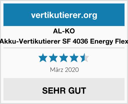AL-KO Akku-Vertikutierer SF 4036 Energy Flex Test
