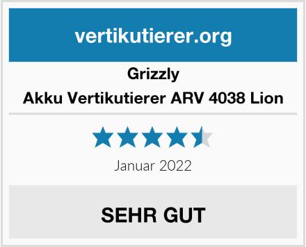 Grizzly Akku Vertikutierer ARV 4038 Lion Test