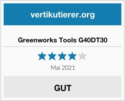 Greenworks Tools G40DT30 Test